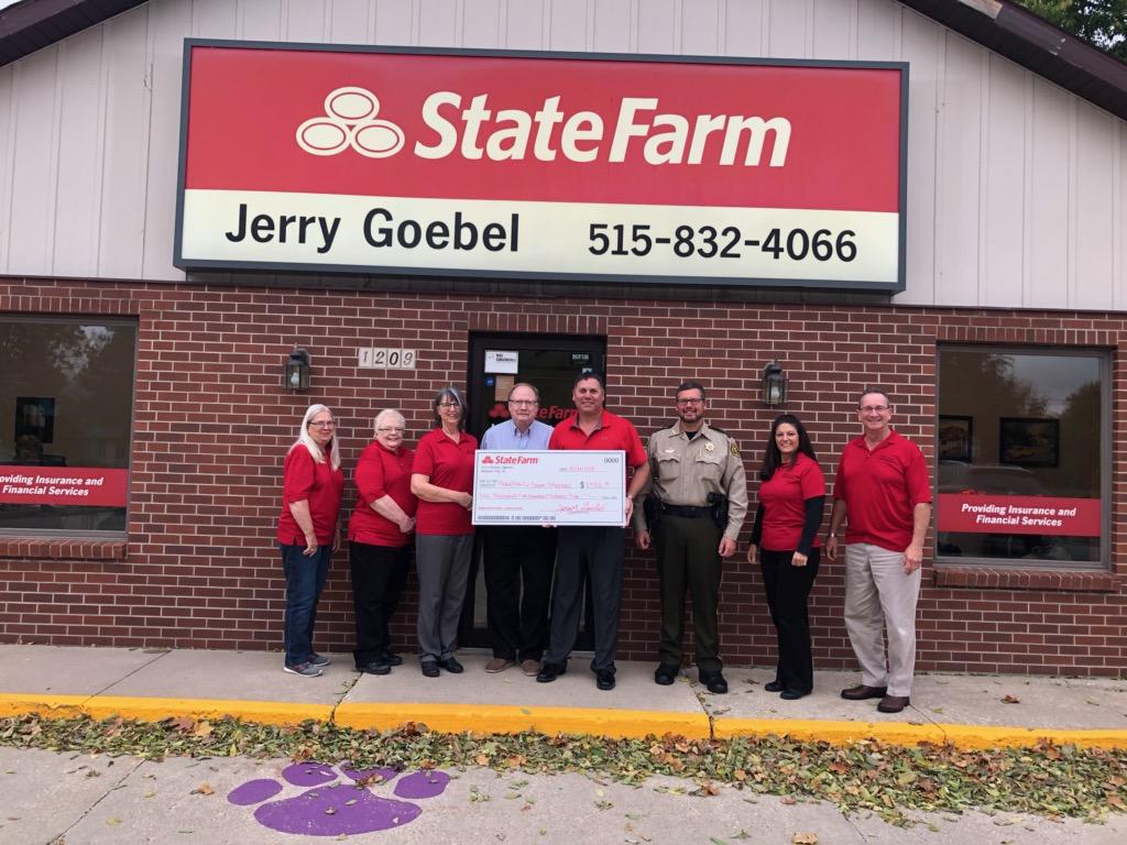 Jerry Goebel State Farm Insurance makes donation to Hamilton County Crimestoppers